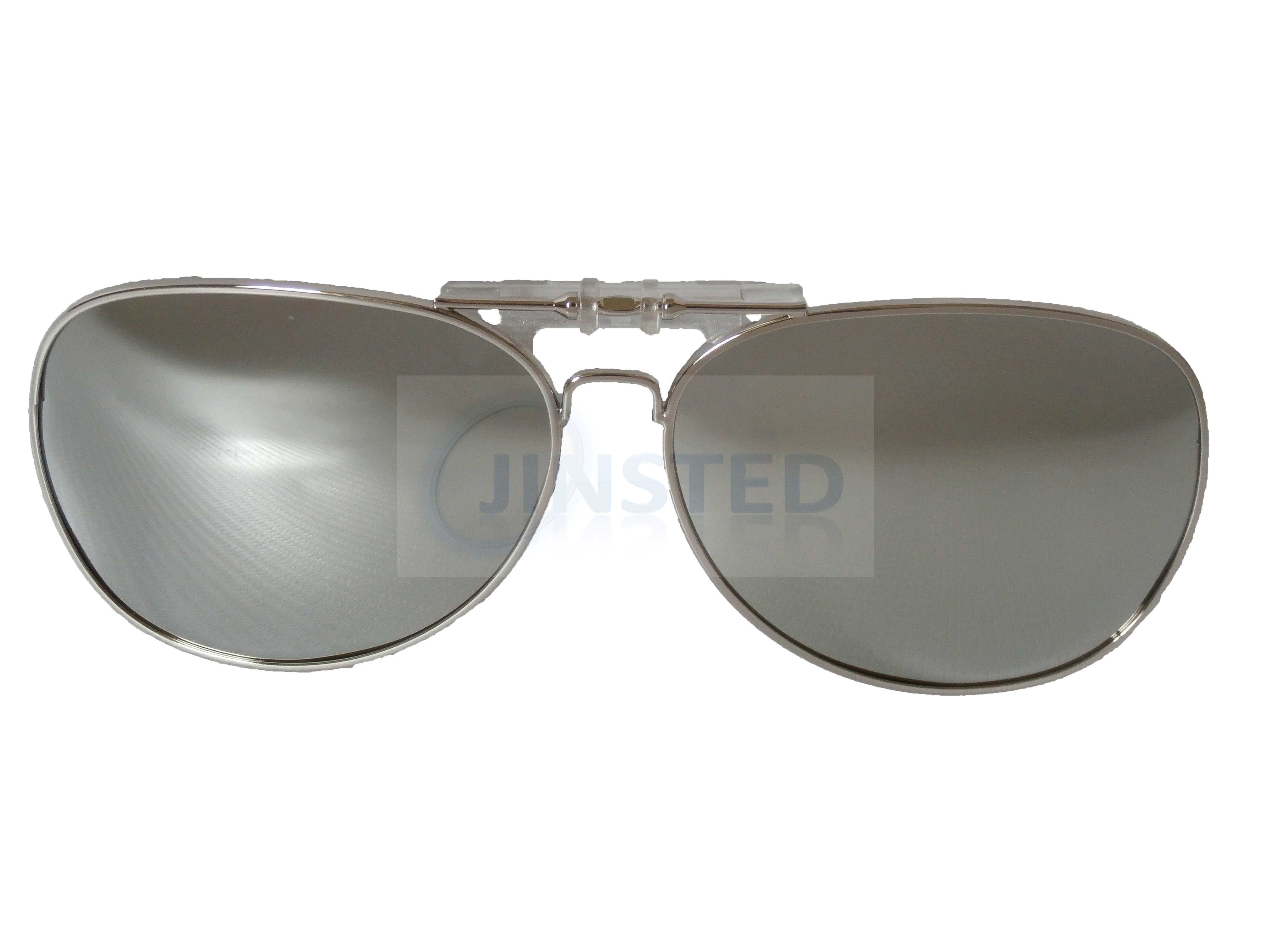 1b1c3fc201 Silver Mirrored Clip On Sunglasses Pilot Sunnies Flip Up Shades ...