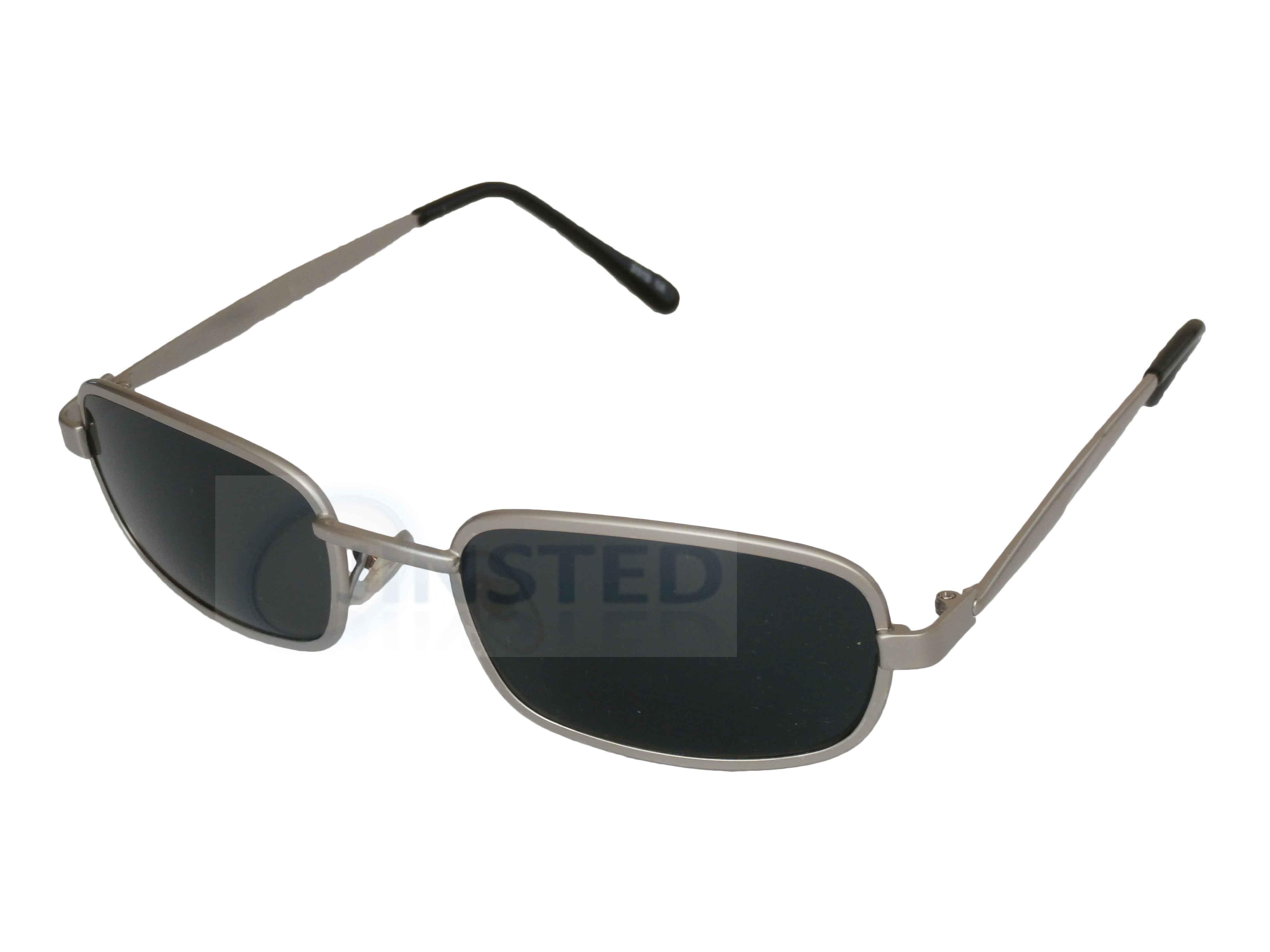 be224dd0af Unisex Alta Calidad Gafas de Sol Plateada Montura Oscuro Lentes ...