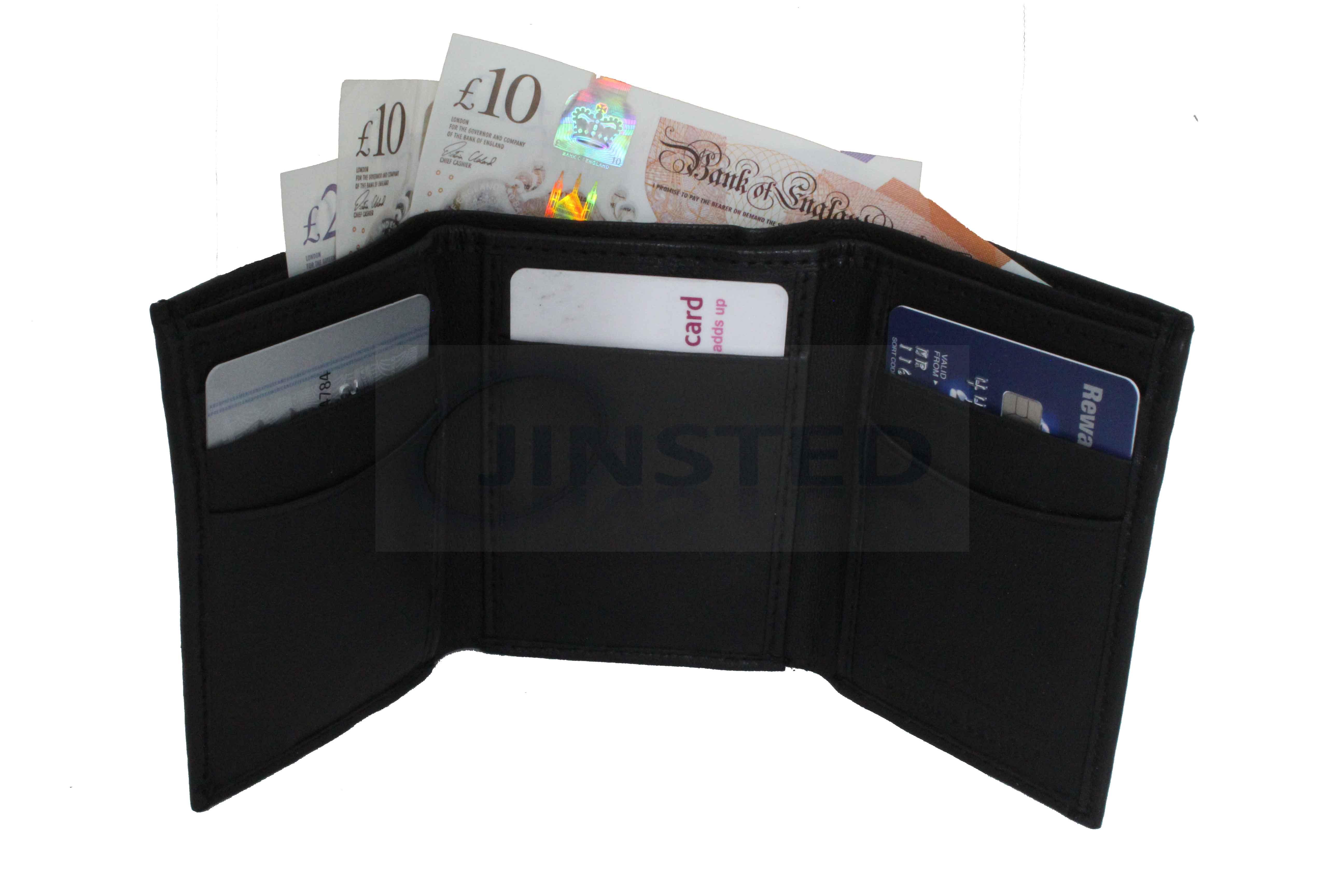 Vendeur Britannique. Hommes Slim Cuir Véritable Portefeuille Note De Crédit Et détenteurs de cartes